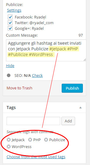 publicize-with-hashtags screenshot 1