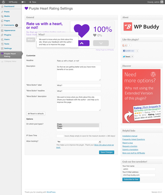 purple-heart-rating-free screenshot 3