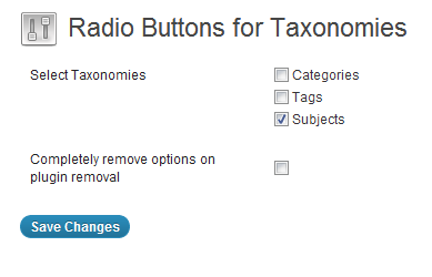 radio-buttons-for-taxonomies screenshot 1