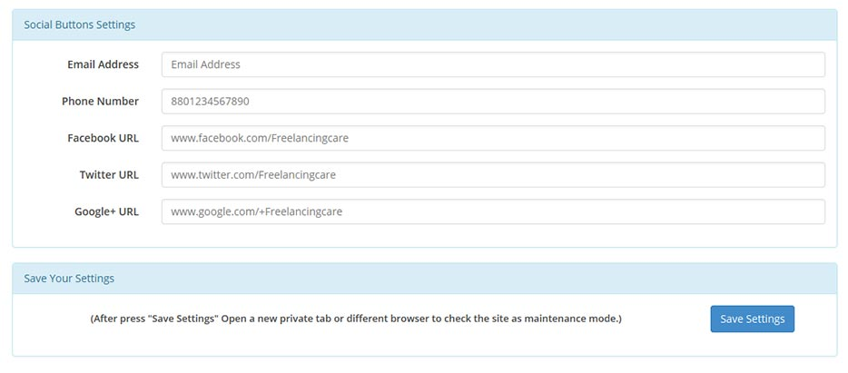 responsive-admin-maintenance-pro screenshot 2