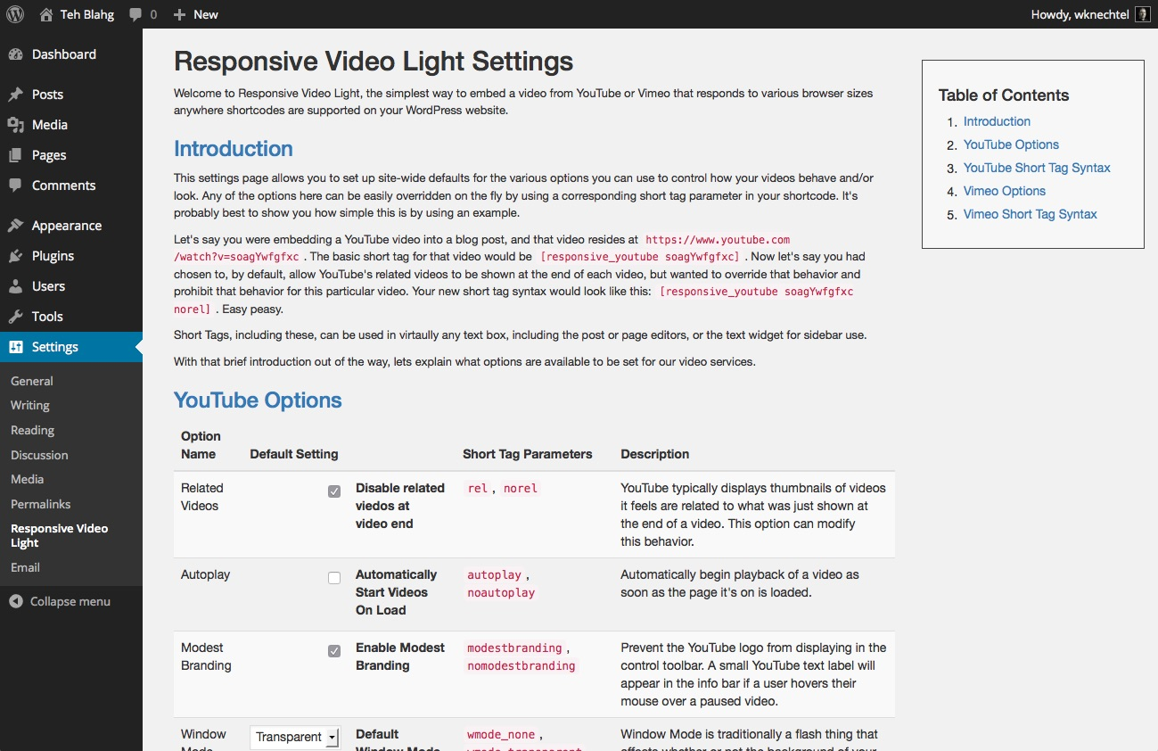 responsive-video-light screenshot 2