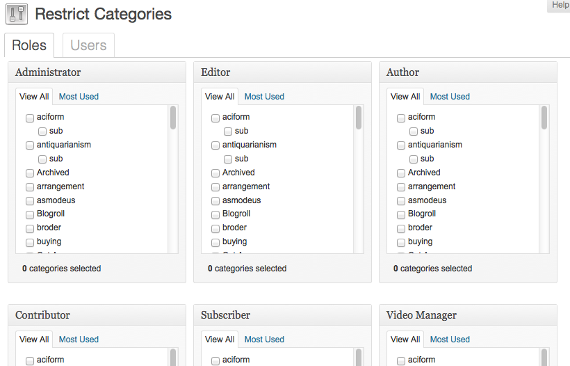 restrict-categories screenshot 1
