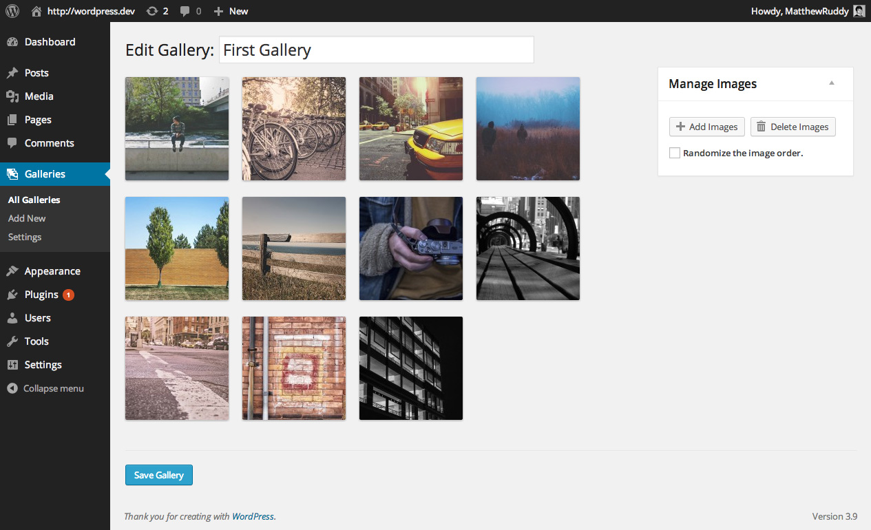 Rocket Galleries add images
