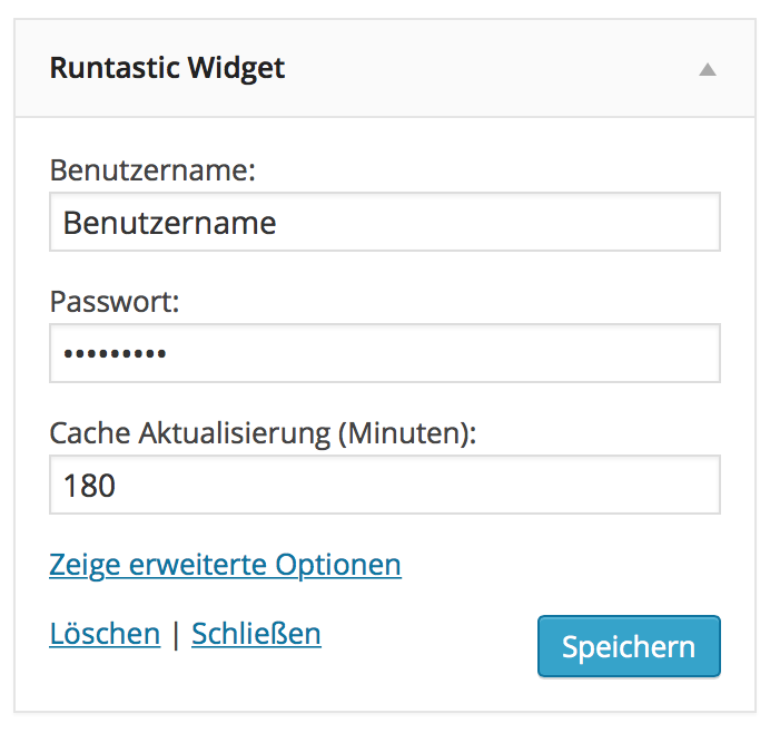 runtastic-widget screenshot 2