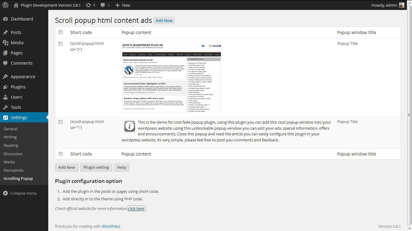 scroll-popup-html-content-ads screenshot 2