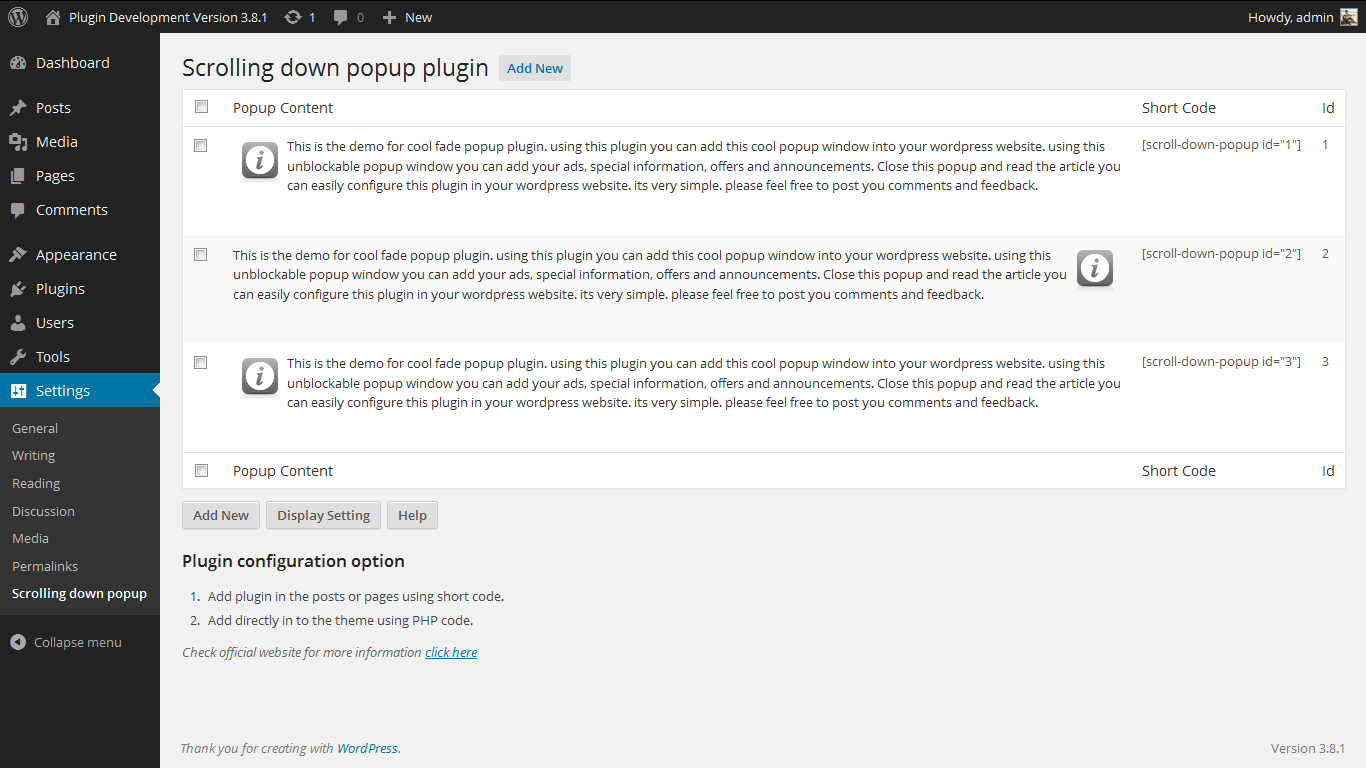 scrolling-down-popup-plugin screenshot 2