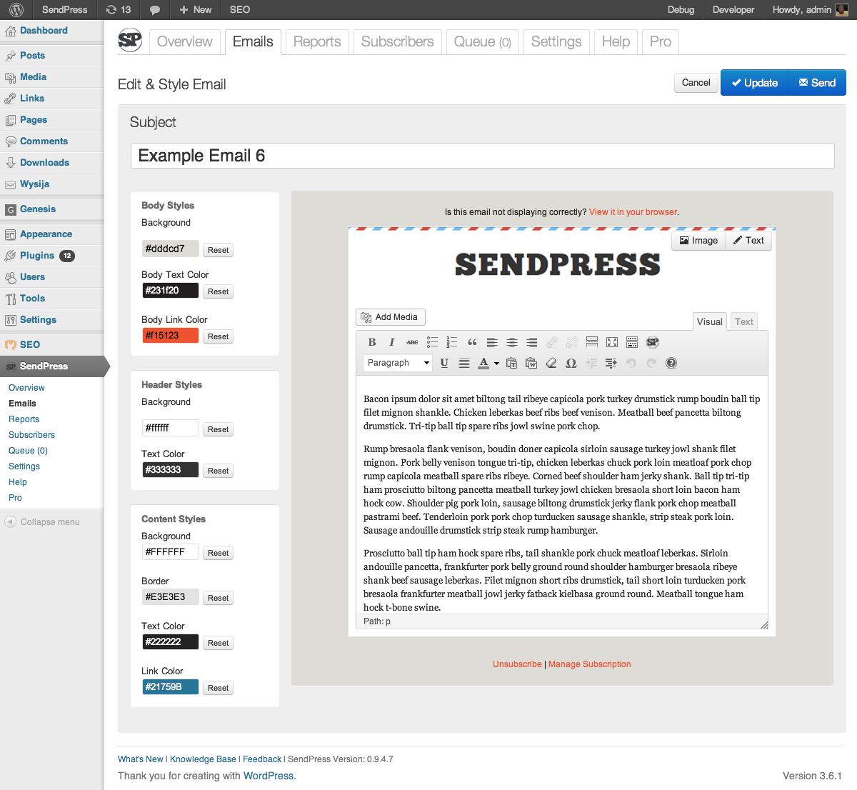 sendpress screenshot 2