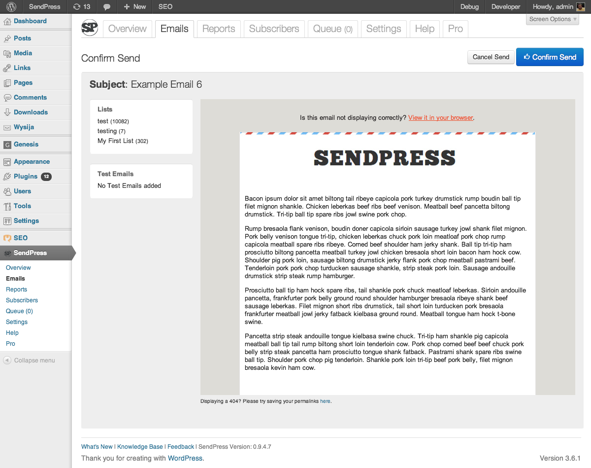 sendpress screenshot 4