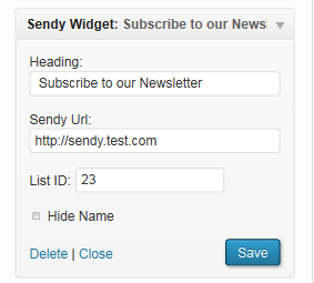 sendy-widget screenshot 2