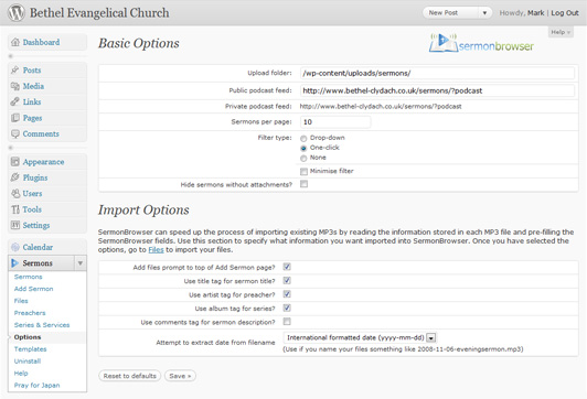 sermon-browser screenshot 4