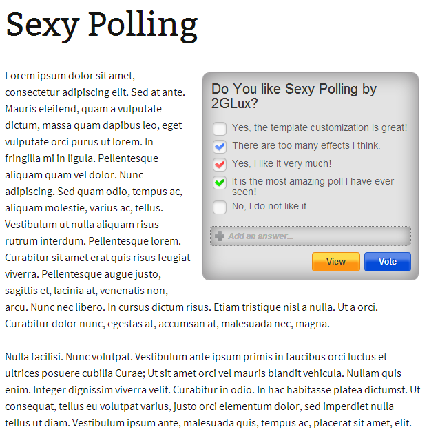 sexy-polling screenshot 2