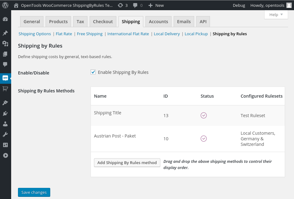 shipping-by-rules-for-woocommerce screenshot 1