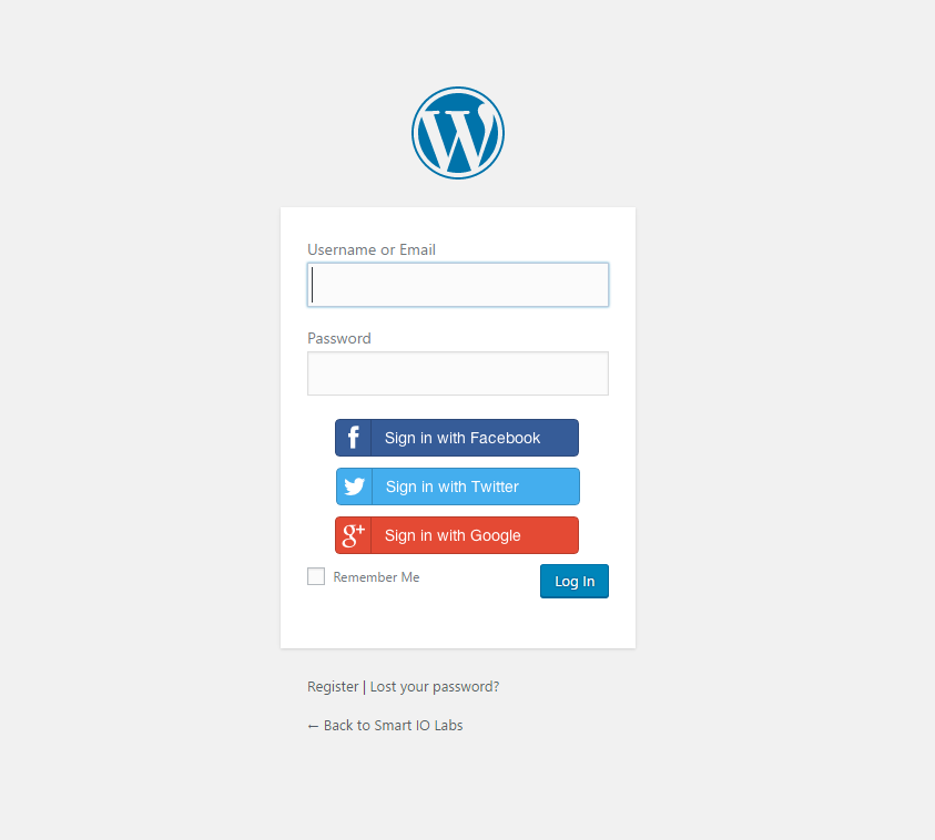 simpla-social-login screenshot 2