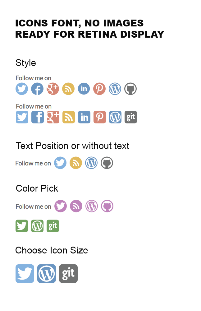 simple-follow-me-social-buttons-widget screenshot 1