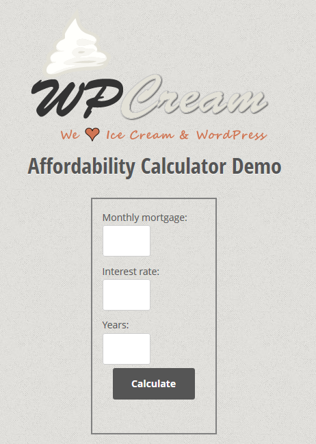 simple-mortgage-and-affordability-calculator screenshot 1