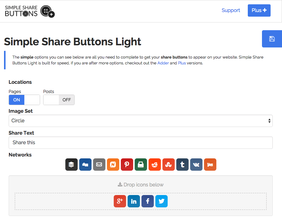 simple-share-buttons-light screenshot 1