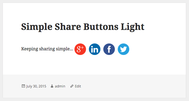 simple-share-buttons-light screenshot 2