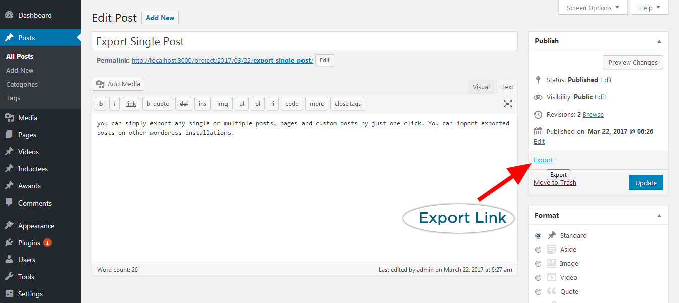 single-post-exporter screenshot 4