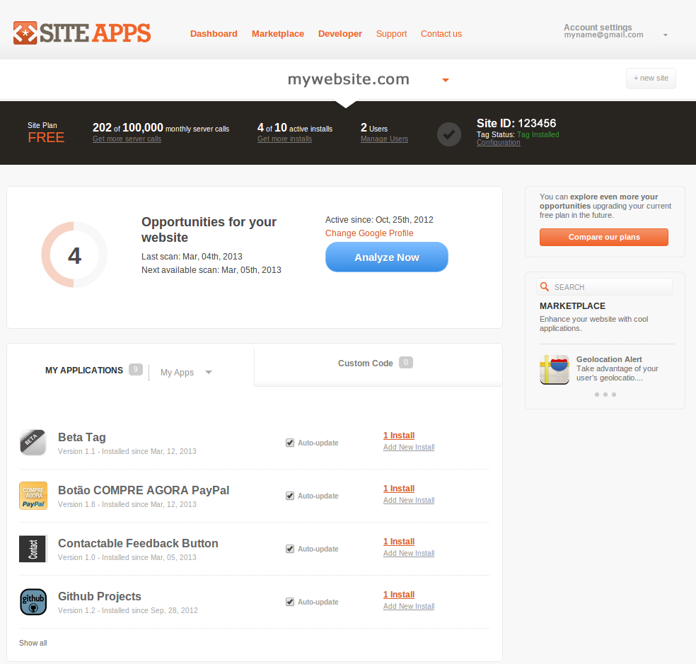 siteapps screenshot 5
