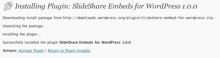 slideshare-oembed-for-wordpress screenshot 2