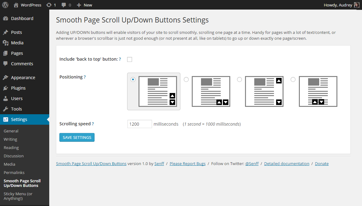 smooth-page-scroll-updown-buttons screenshot 1