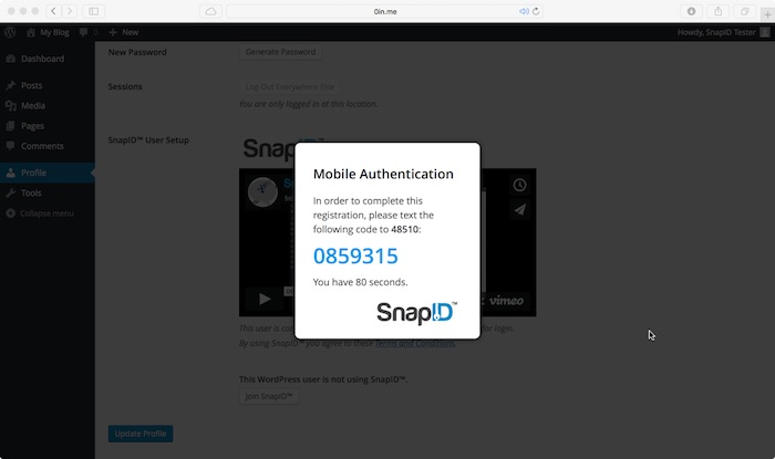 snapid-two-factor-authentication screenshot 2