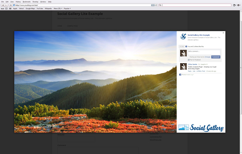 social-gallery-lite screenshot 1