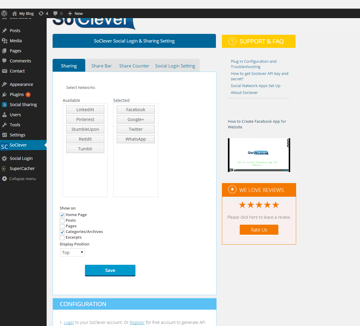 social-login-sharing-buttons-with-analytics-by-soclever screenshot 3