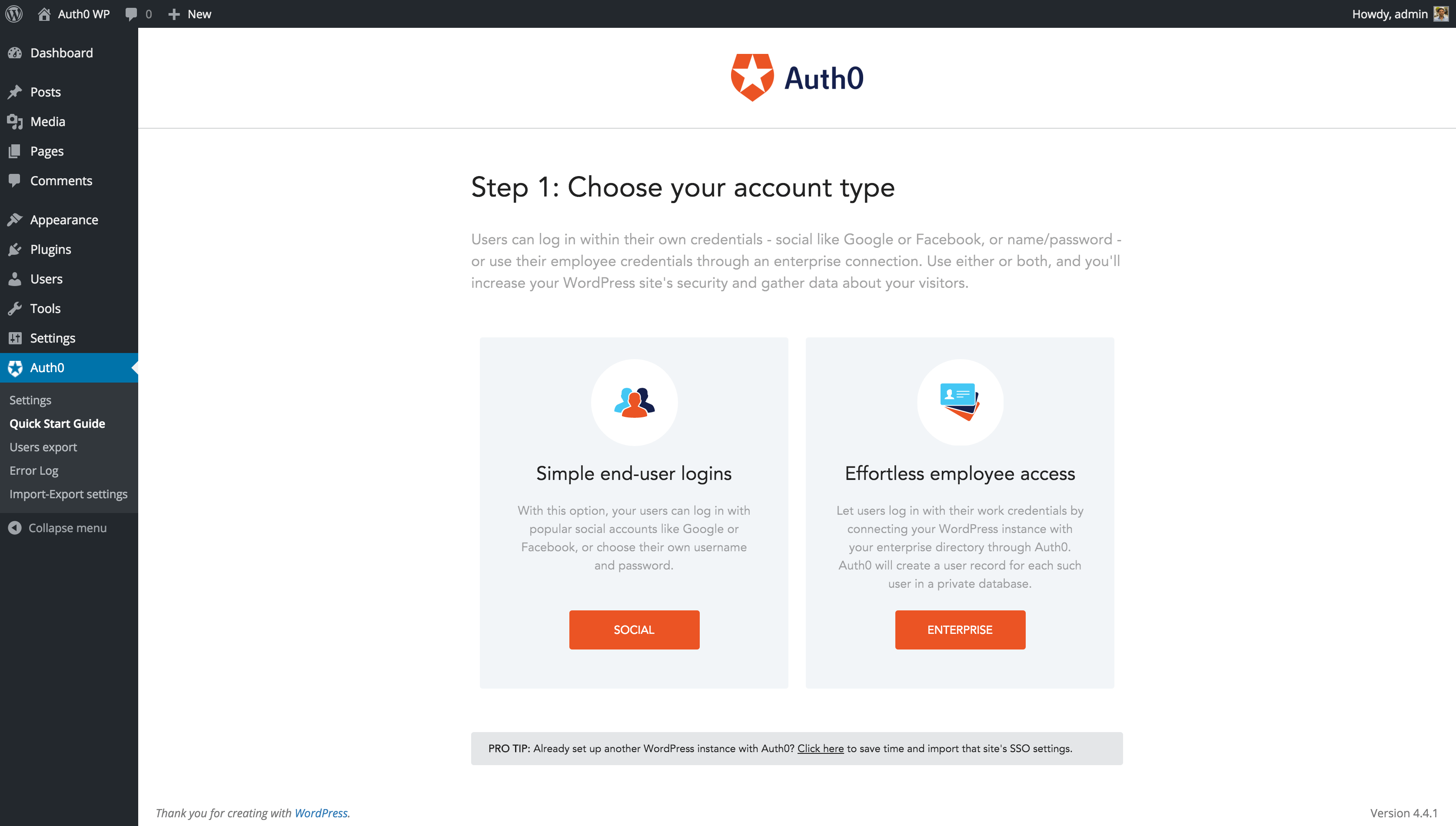 social-login-with-auth0 screenshot 3