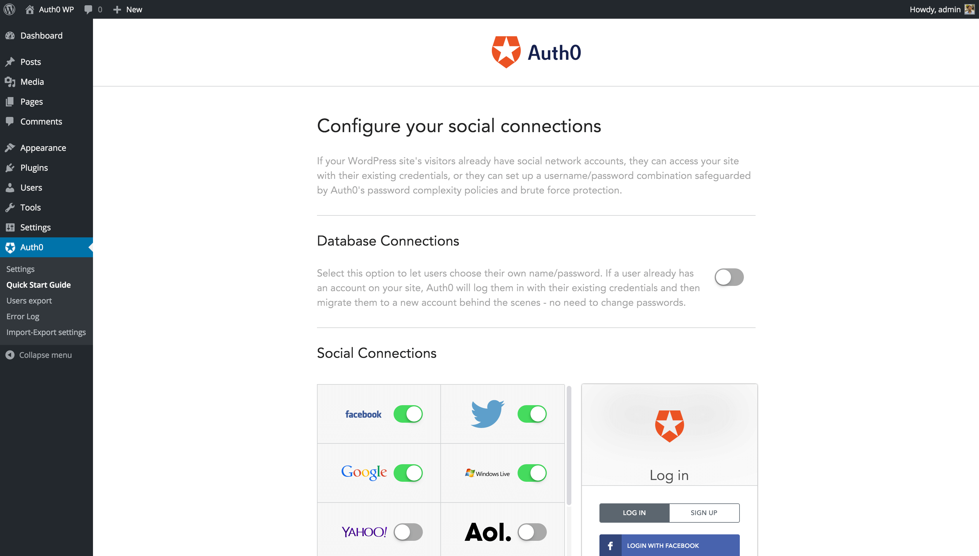 social-login-with-auth0 screenshot 4