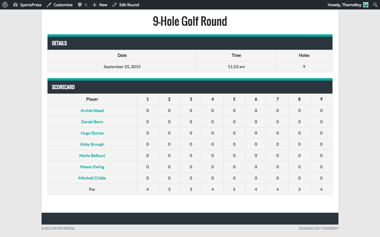 sportspress-for-golf screenshot 3