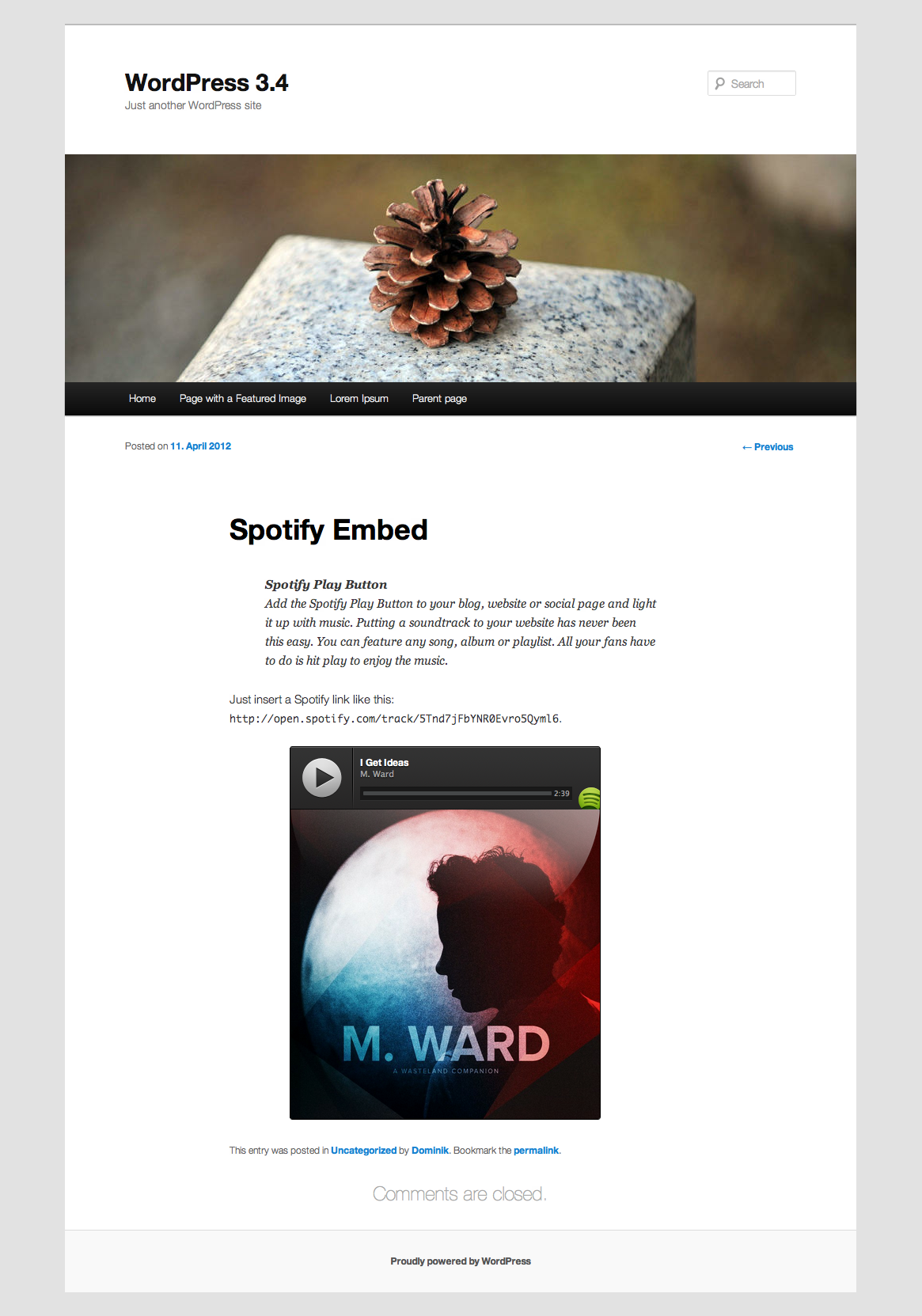 spotify-embed screenshot 1