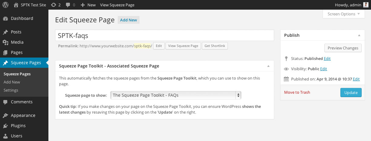 squeeze-page-toolkit screenshot 1
