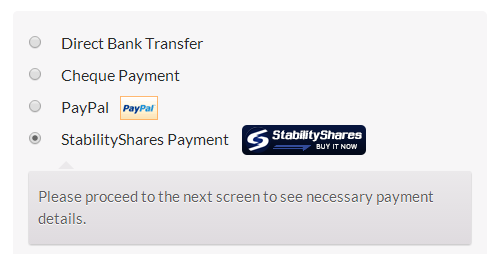 stabilityshares-payments-for-woocommerce screenshot 1
