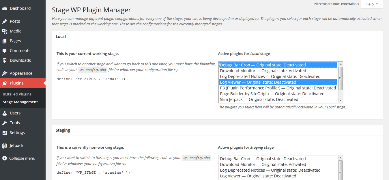stage-wp-plugin-manager screenshot 2