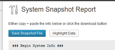 system-snapshot-report screenshot 2