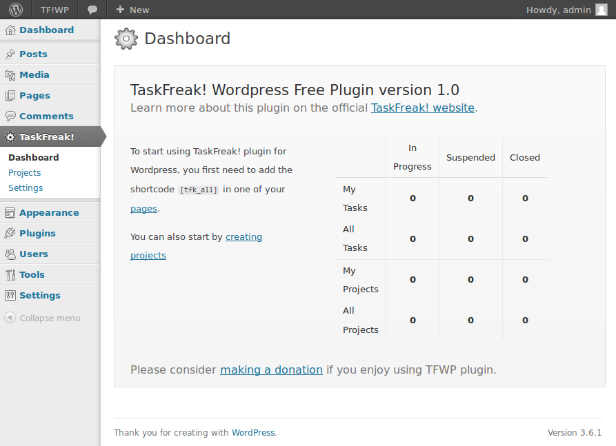 taskfreak screenshot 1