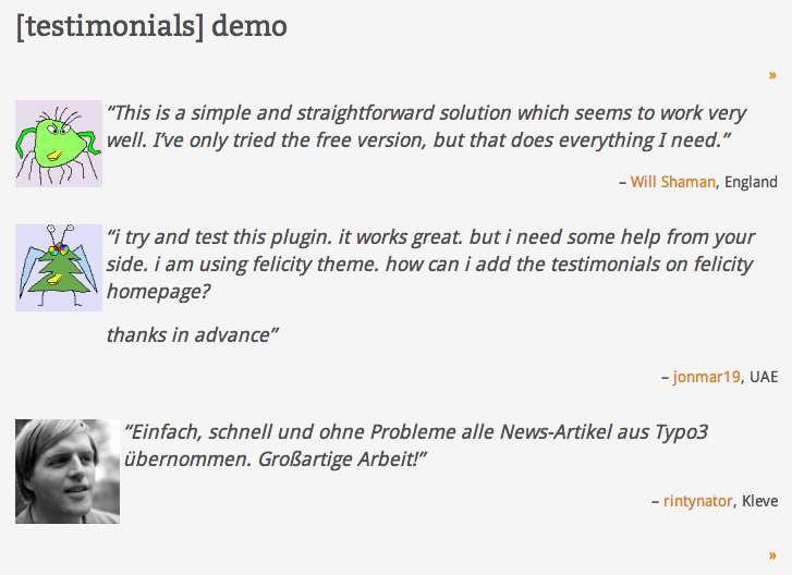 testimonials-widget screenshot 3