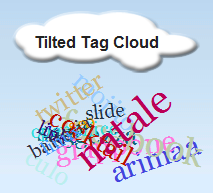 tilted-tag-cloud-widget screenshot 1