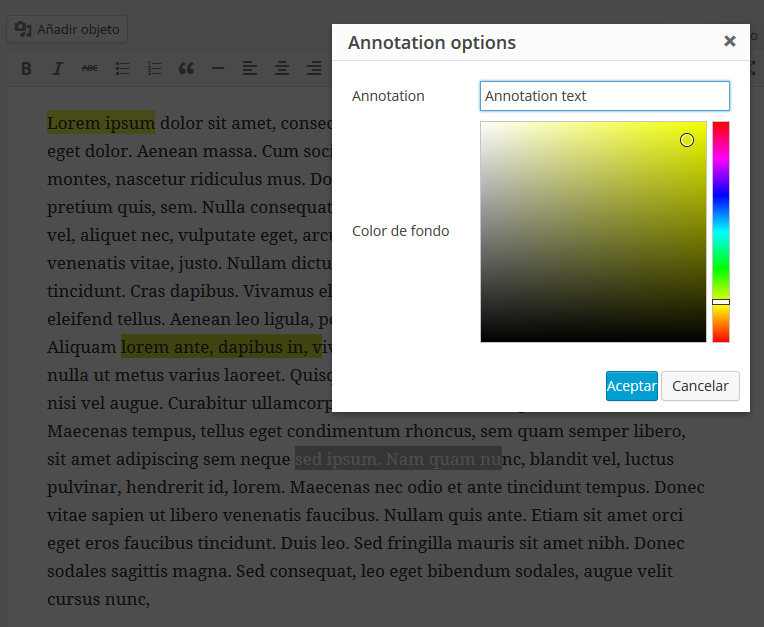 tinymce-annotate screenshot 2
