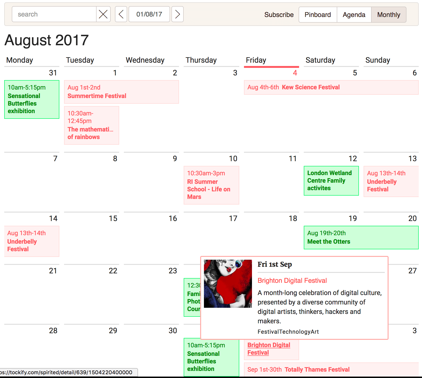 tockify-events-calendar screenshot 3