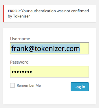 tokenizer-two-factor-authentication screenshot 3