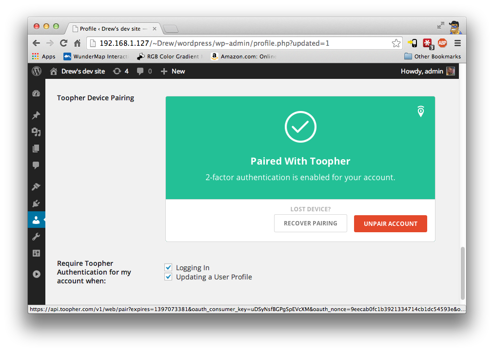 toopher-two-factor-security screenshot 3