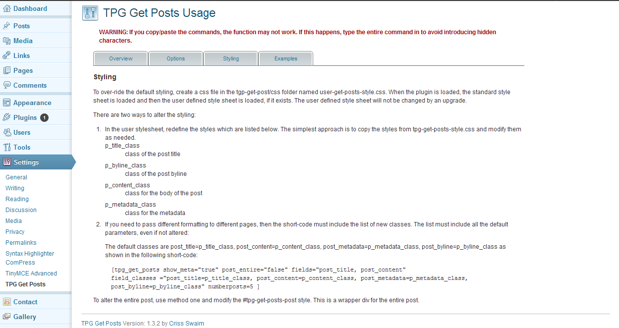 tpg-get-posts screenshot 4