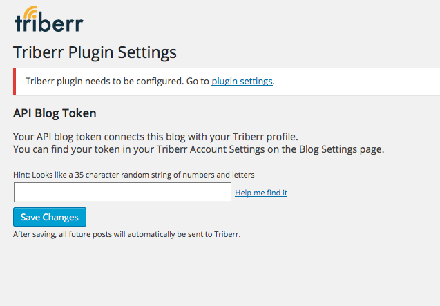 triberr-wordpress-plugin screenshot 1