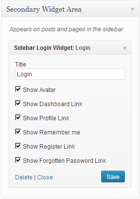 tt-sidebar-login-widget screenshot 2