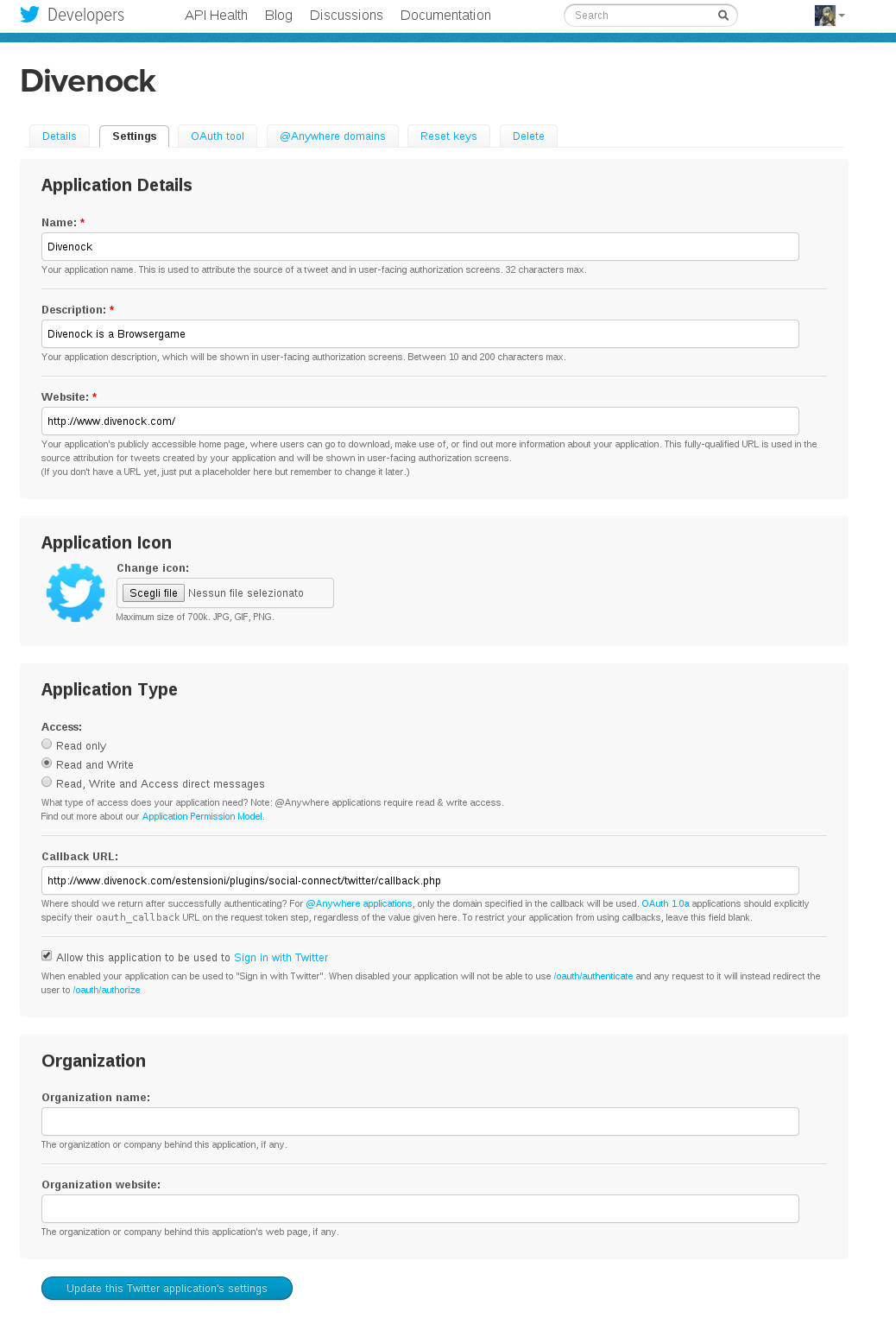 twitter-posts-to-blog screenshot 3