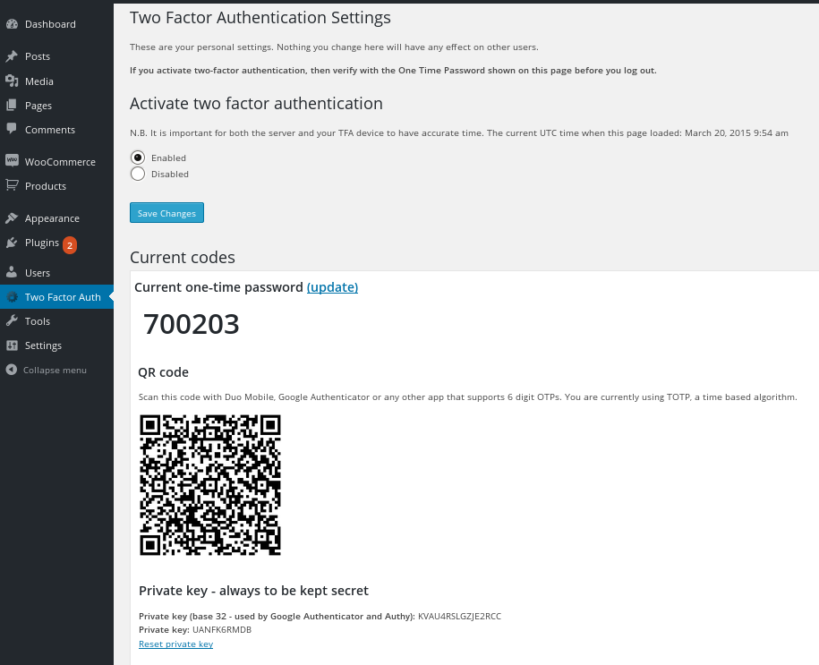 two-factor-authentication screenshot 2