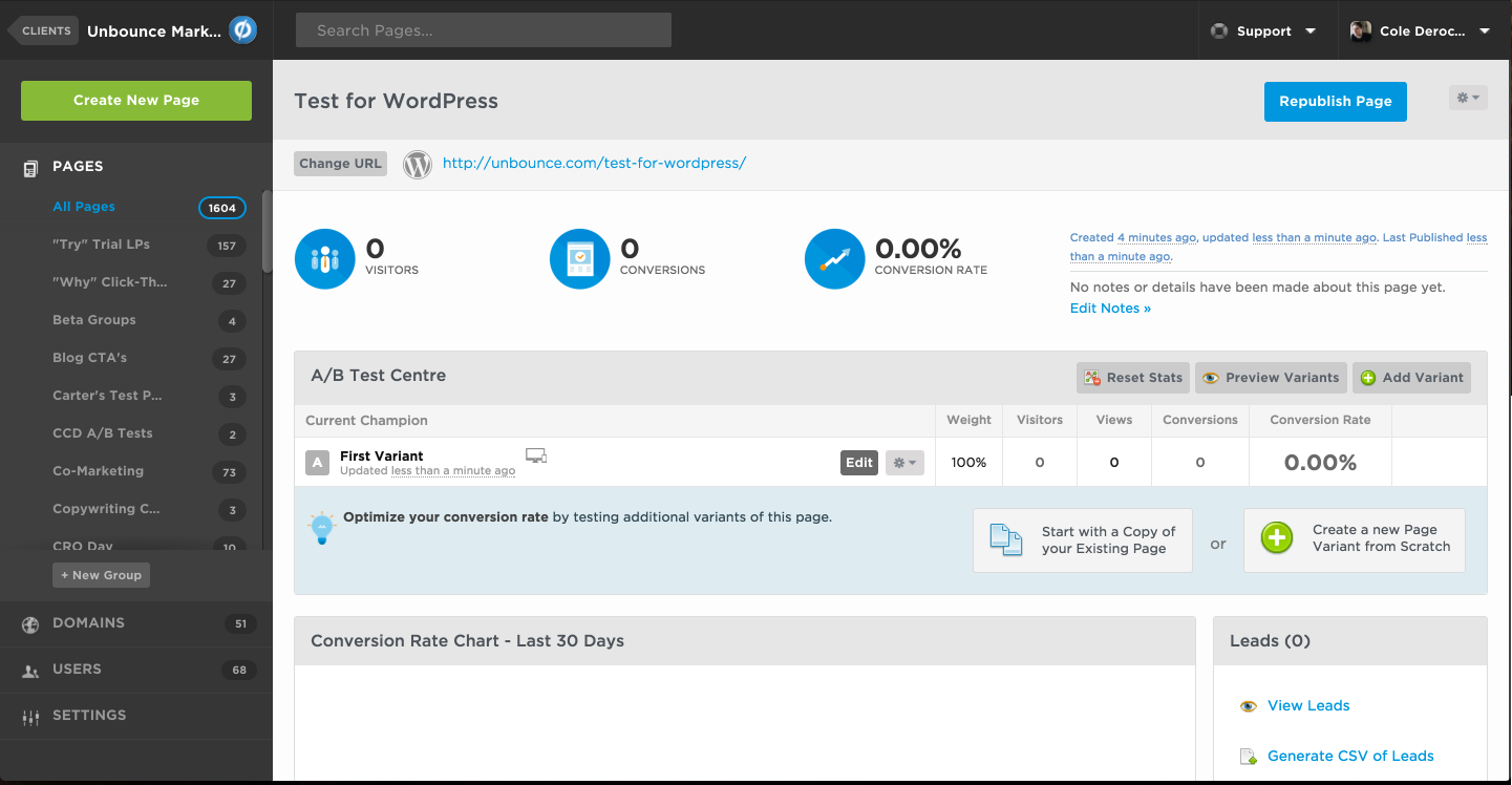 unbounce screenshot 4