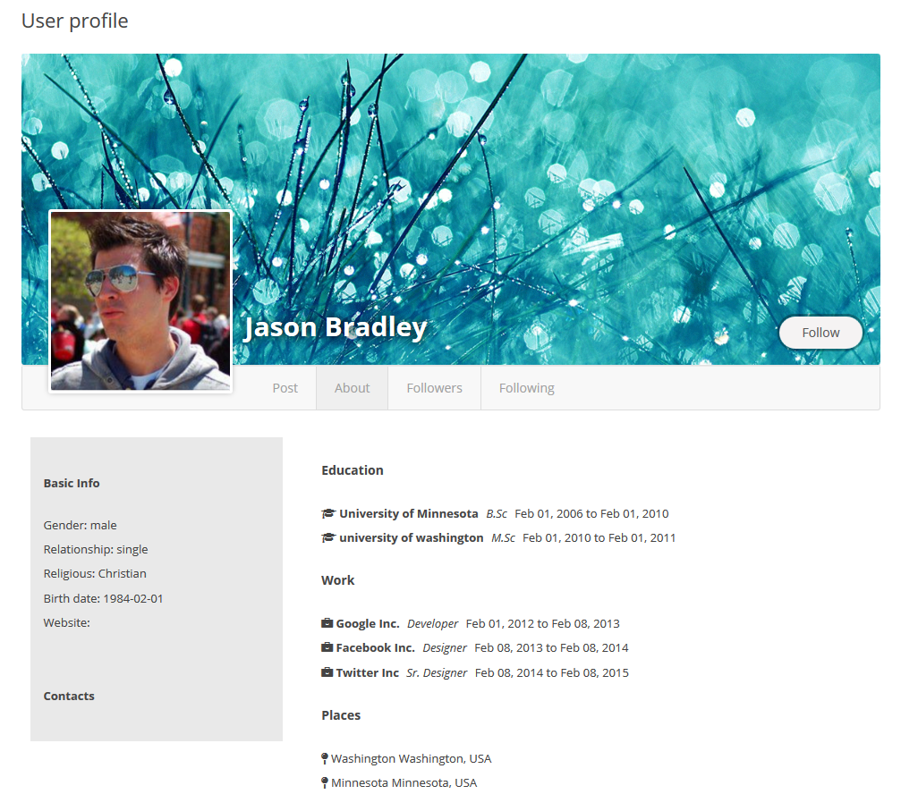 user-profile screenshot 2